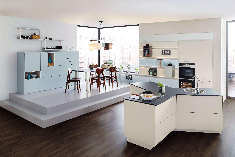Powder Blue & White Y Kitchen Design