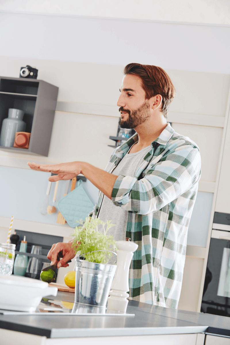 Allows interaction in the kitchen Arte B 3399 Kitchen Design
