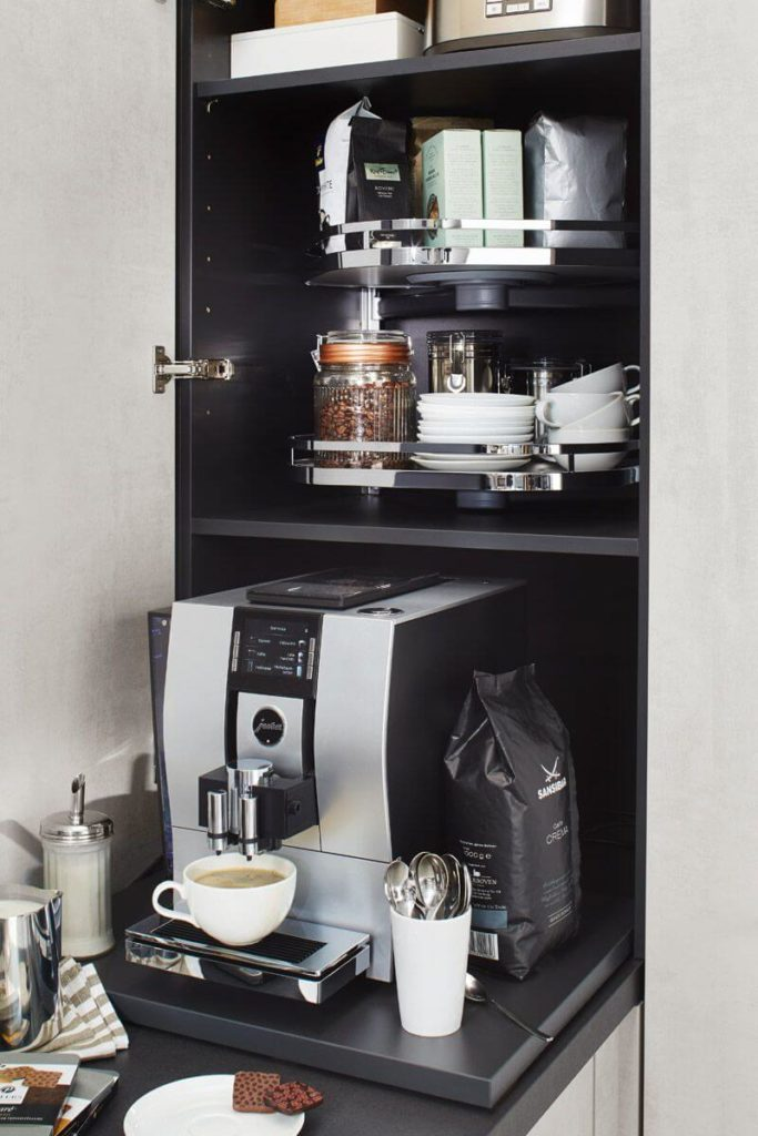 Sliding coffee maker Top 1466 Kitchen Design
