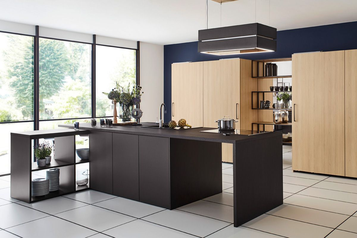 Black & Wood effect Top 1496 Kitchen Design