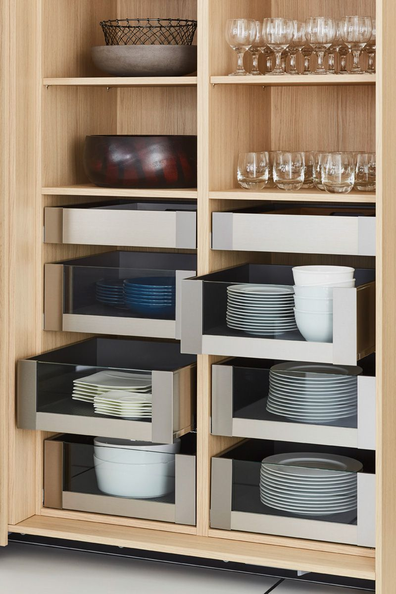 Layered shelving with drawers Top 1496 Kitchen Design