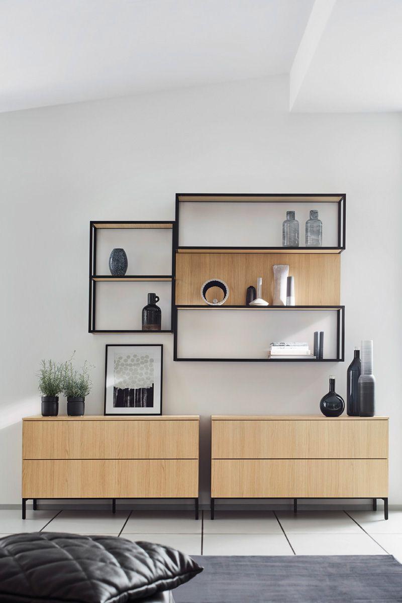 Wood effect Wall hung shelves Top 1496 Kitchen Design
