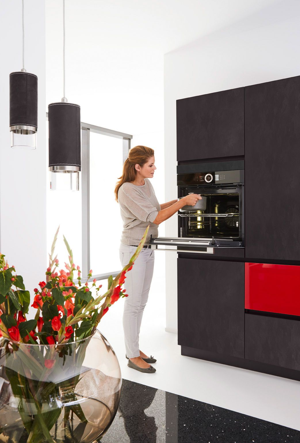 Black & Gloss Red Edition 2716 Kitchen Design