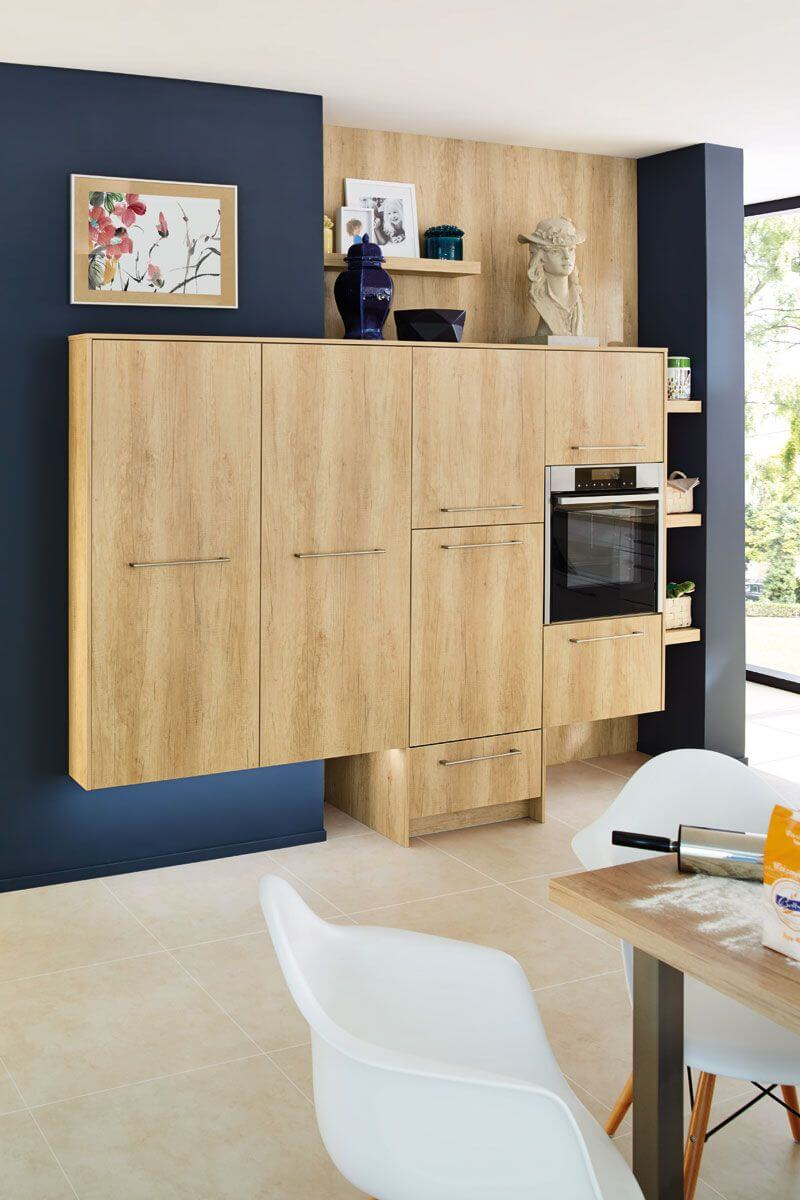 Wood effect cabinet Miami 3146 Kitchen Design