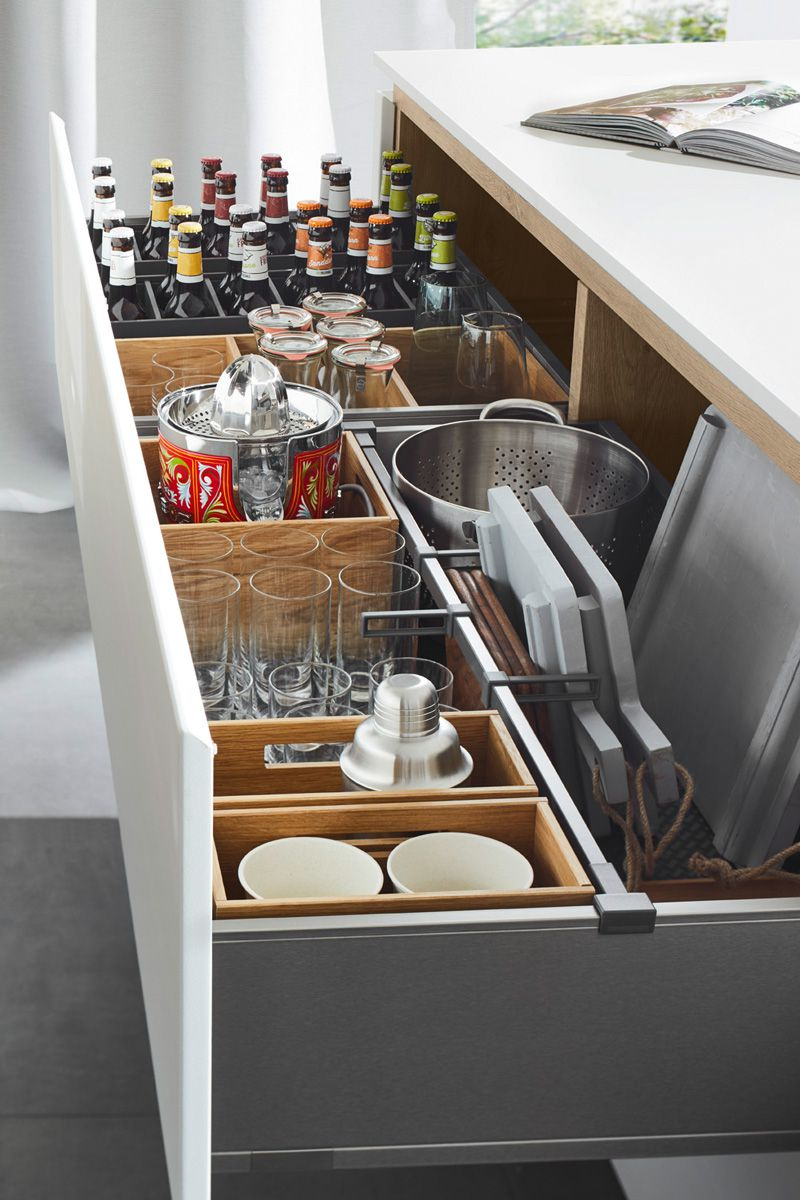 Drawers with Separation System Flair S 40095 Kitchen Design