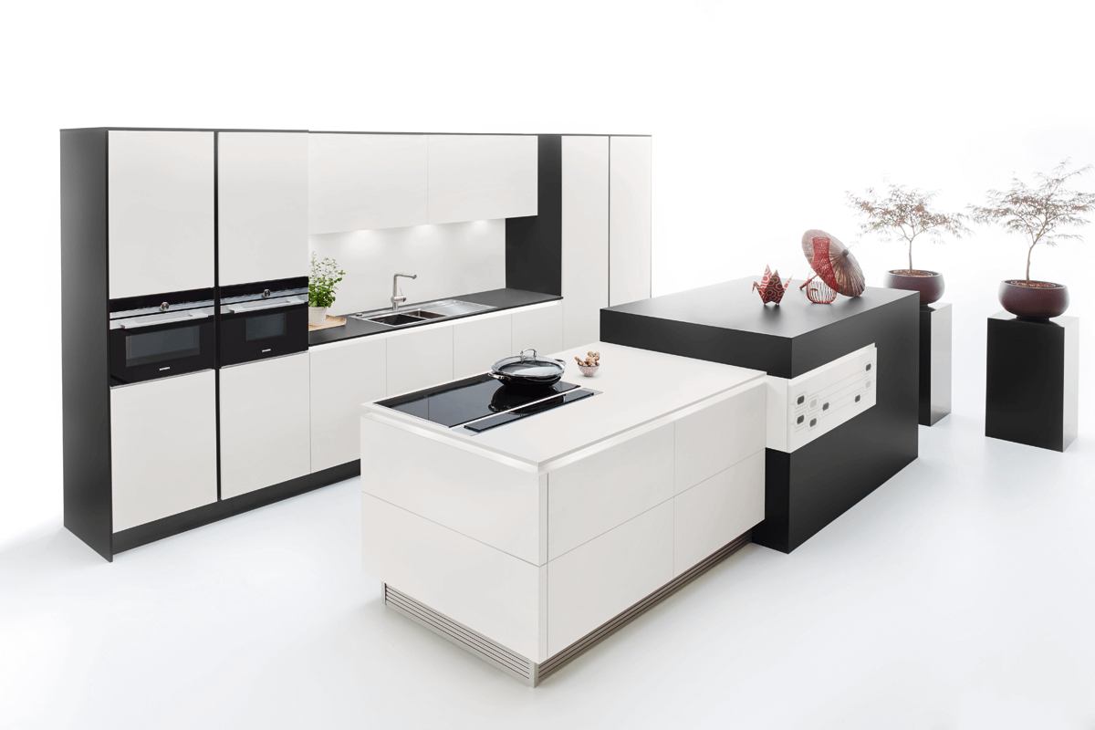 Black & White Fenix 4901 Kitchen Design