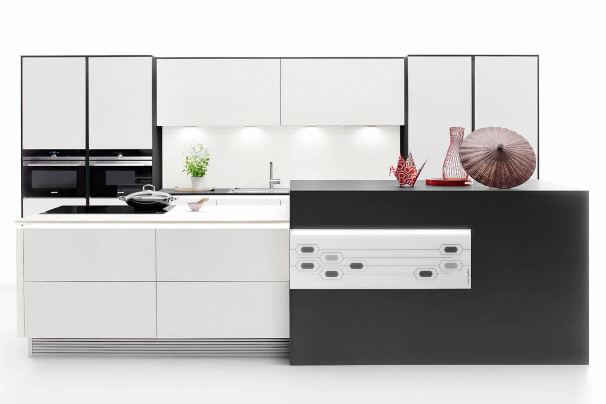 Japanese style Black & White Kitchen Design