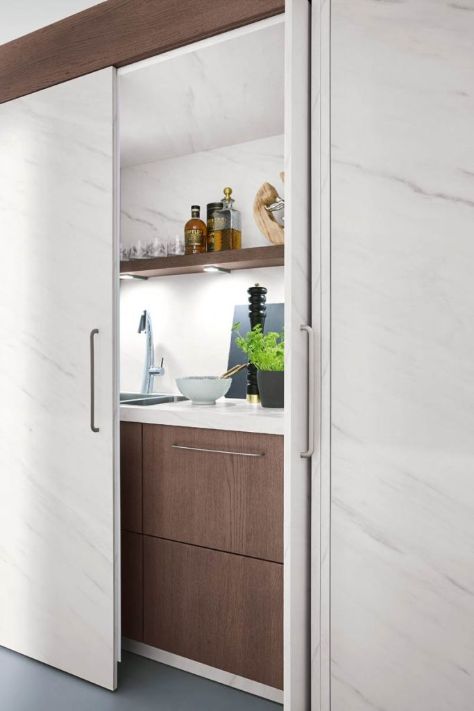 Sliding Door with a Twist Cabinet
