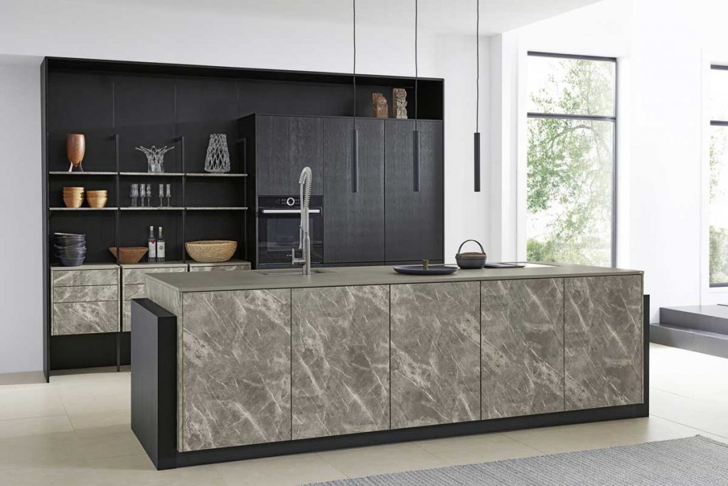 Smart 4001-Matte Black kitchen cabinet