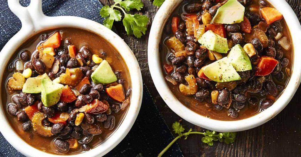 Smoky vegan black bean soup