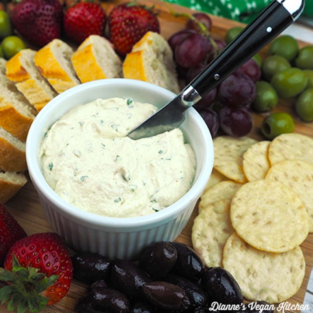 Tangy Herbed Vegan Cheese Spread