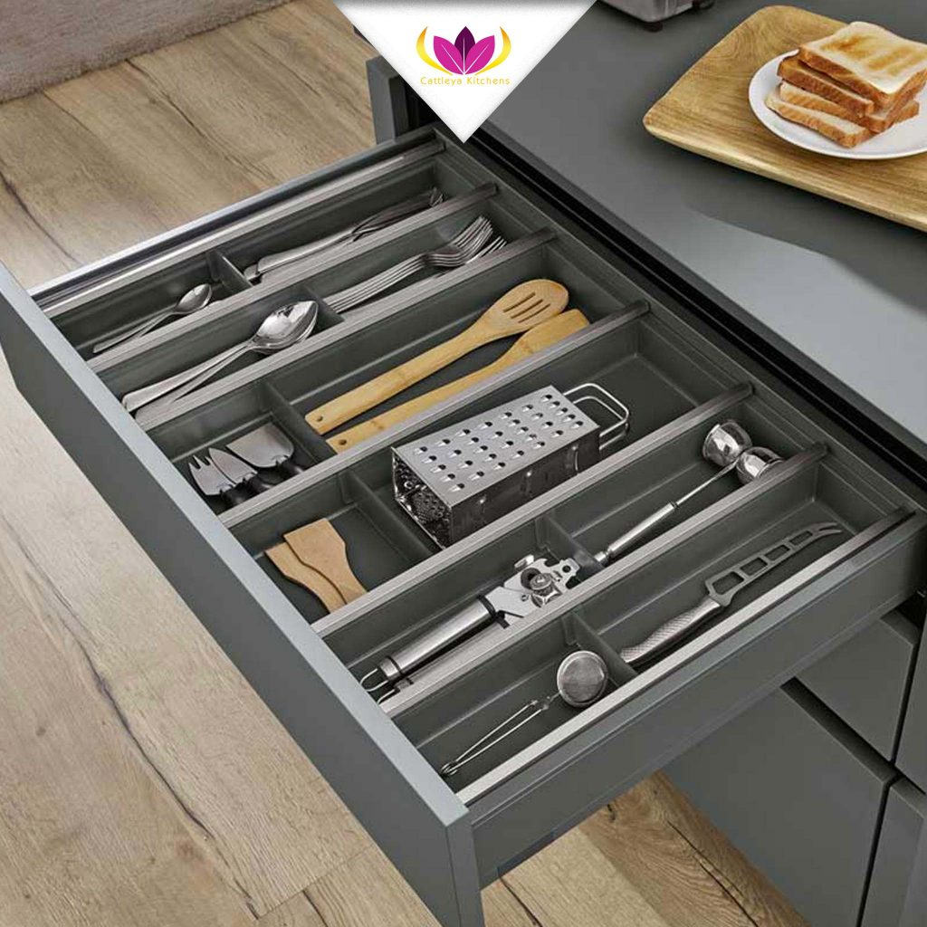 Partitioned Kitchen Drawer
