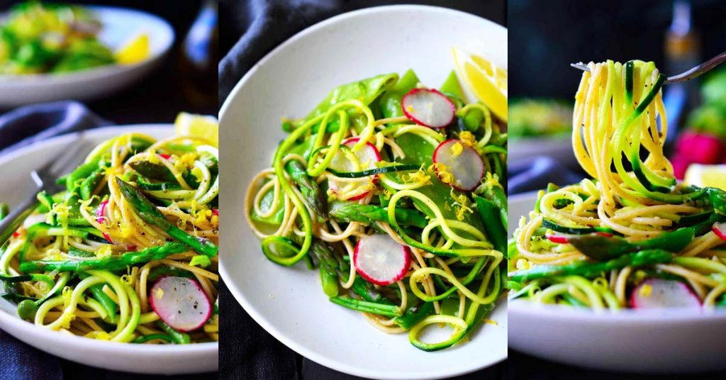 Spring Vegetable Zoodle Pasta